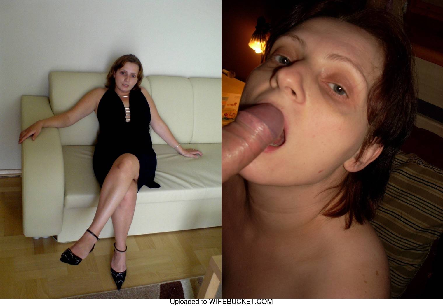 amateur milf in before-after blowjob photos