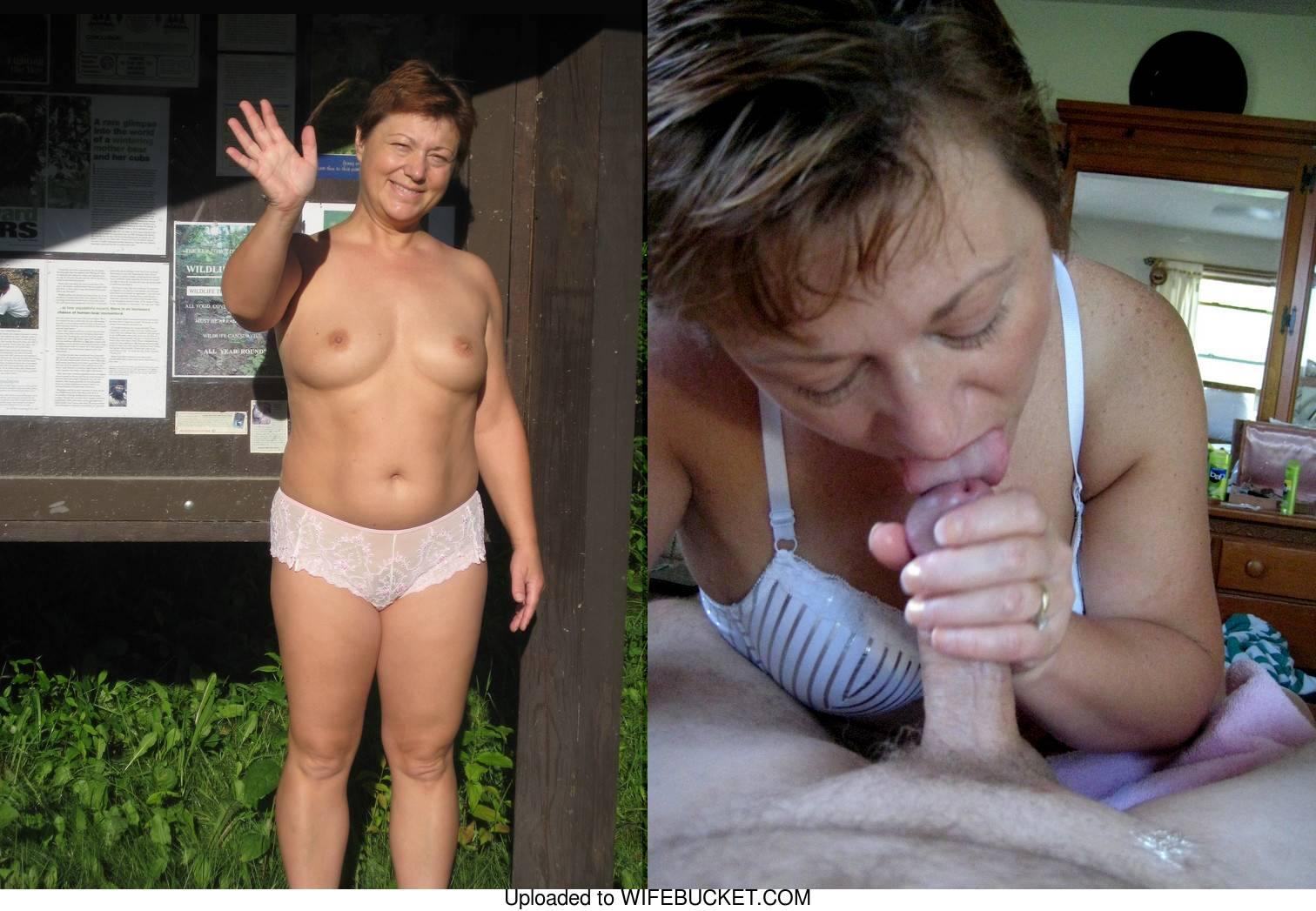 mature wife before-after facial