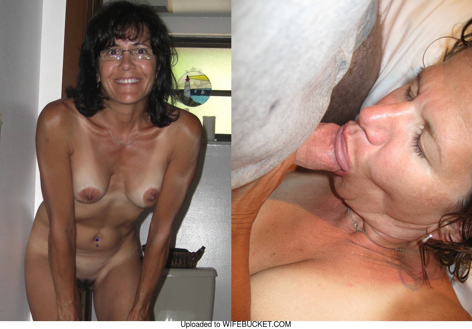 tanned housewife before-after blowjobs