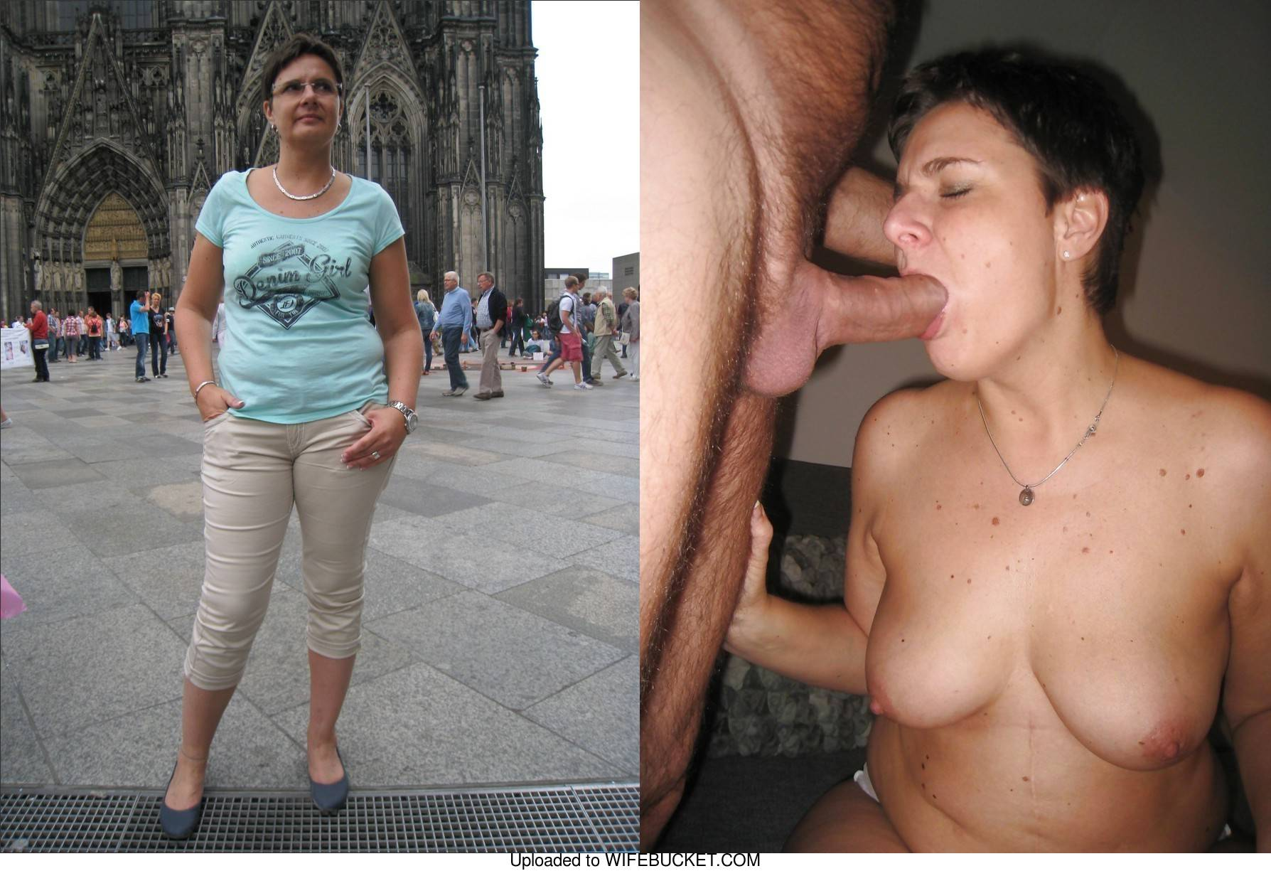 tourist milf clothed-unclothed porn and blowjobs
