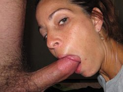 WifeBucket Pics | Pretty MILF wife enjoys giving oral sex