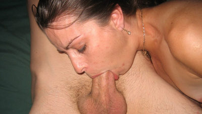 Pretty MILF wife gives lots of blowjobs