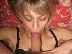 Pics of a hot blonde wife giving blowjobs