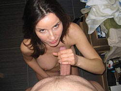 Pics of a hot MILF sucking a big cock