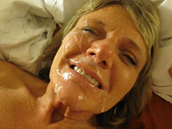 WifeBucket Pics | Big facial cusmhots for a real mature woman