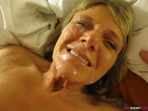 The older women get, the more they appreciate facials. Don't belive me? Well, take a look at this gallery featuring a real mature wife - Vicky - and lots of the blowjobs she gave and the facial cumshots she received! When your wife smiles after getting hit in the face with hot jizz - she definitely loves it! Scroll down to see more previews and then sign up to WifeBucket to get more big facial cumshots!