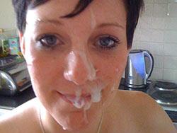 Pics of amateur wives getting big facials