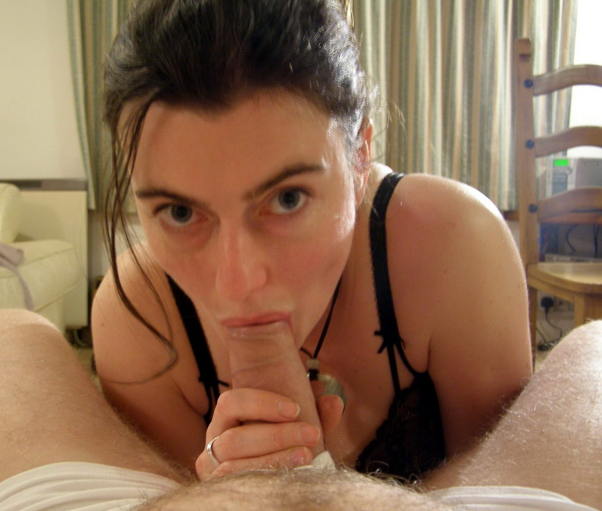 POV blowjob with great eye contact