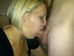 Pics of hot wives giving deepthroat blowjobs