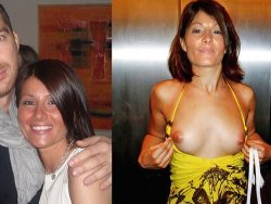WifeBucket Pics | MILF wife before-and-after she flashed her boobs in public