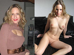 WifeBucket Pics | Before-and-after naked photo of a hot wife
