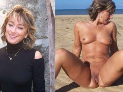 WifeBucket Pics | Dressed-undressed photos of lovely mature nudist