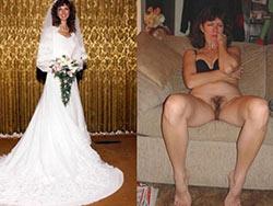 Clothed-unclothed pics of real amateur brides