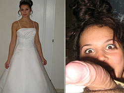WifeBucket Pics | Before-after blowjob from a hot bride