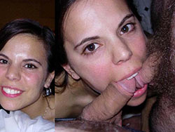 Submitted before-after blowjob pics