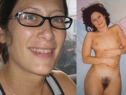 Submitted clothed-unclothed pics of real MILFs