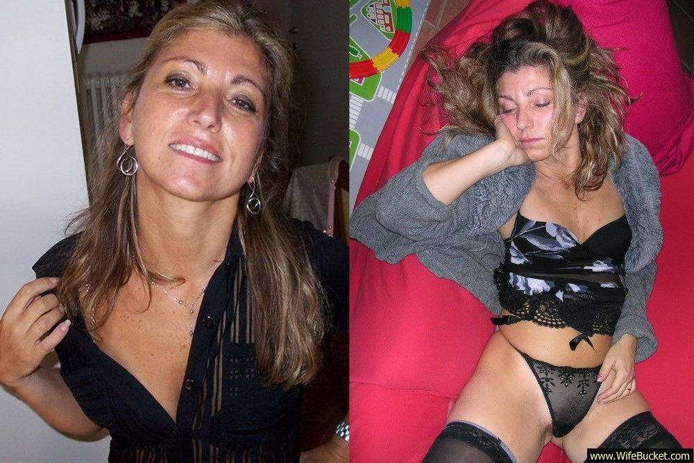 Before-after nudes of drunk wife