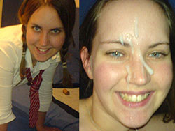 Pics of amateurs before-and-after the facial