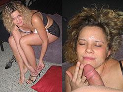 WifeBucket Pics | Slutty MILF after the big facial
