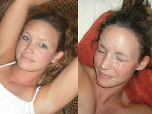 The only way to make a woman even more beautiful has nothing to do with better makeup, expensive cosmetics, or a day in the spa. Instead, it's much much simpler - just give her a big facial cumshot! Of course, not all women think so but WifeBucket has many who do. Take a look at these before-after facial pics and you'll see that I'm right - they DO look hotter and sexier with cum on the face! Scroll down for the previews and then sign-up for the full gallery inside the WifeBucket member area!
