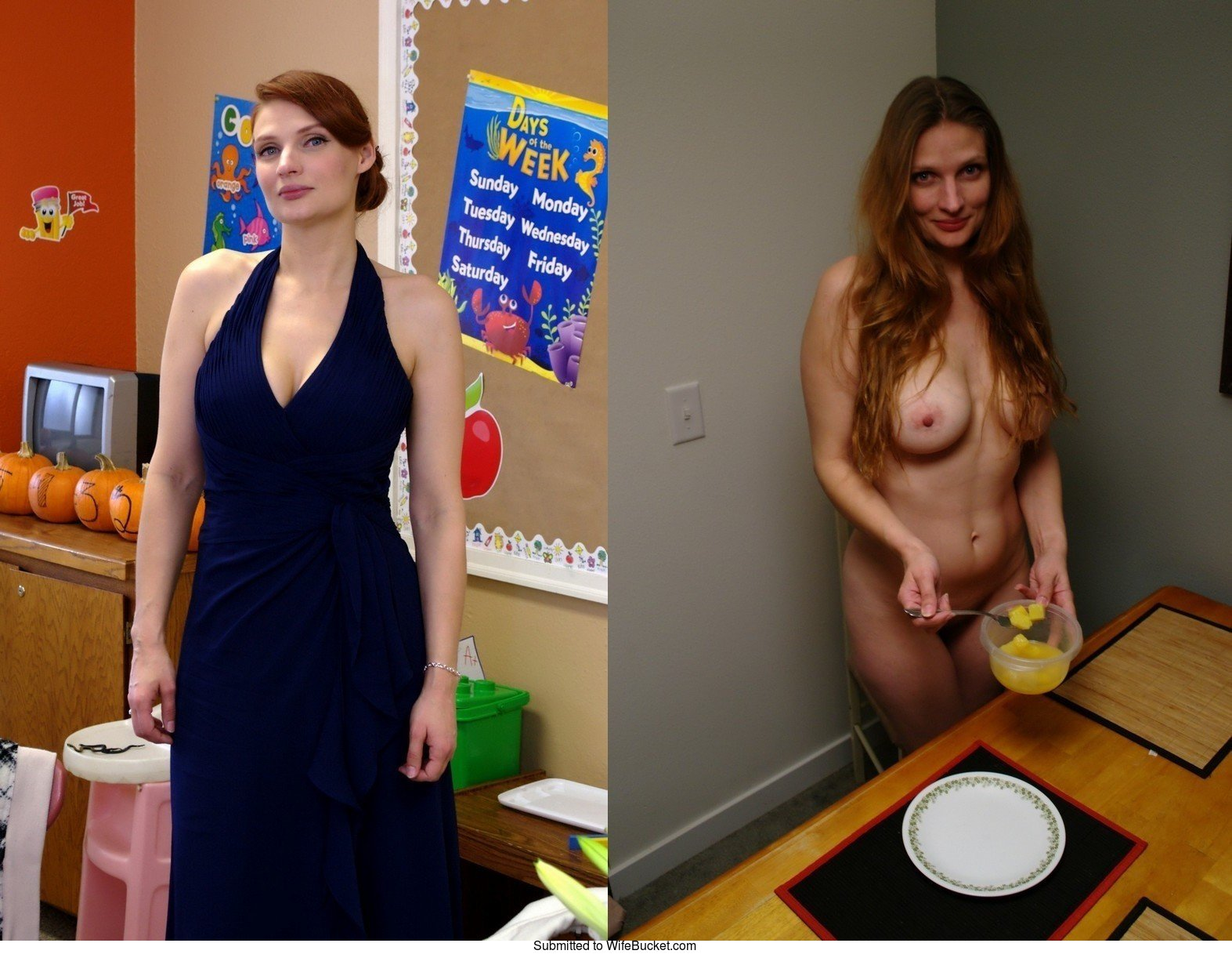 Amateur milfs before and after dressed and naked hot