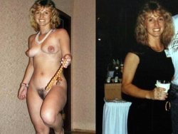 Before-after vintage sex video of a real slutty MILF