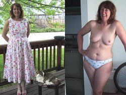 Before-after nudes compilation from a real mature wife