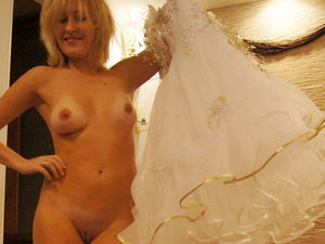 Nice series of this cute bride feeling very romantic and sexy on the honeymoon - and she also fucks a lot!