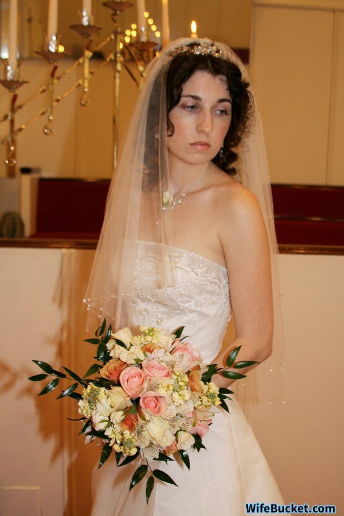 Beautiful bride naked