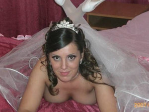 Another sex video from this beautiful big-tit bride - she's shy at first but soon she forgets all inhibitions and acts like a true slut.