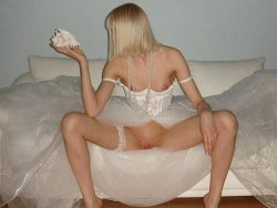 Long sex video with a slutty blonde bride