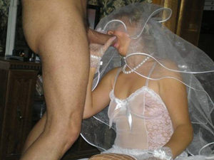 The groom wanted to fuck her mouth through the veil - and the bride was more than happy to oblige.