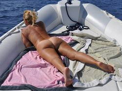Amateur MILF naked on a luxury yacht