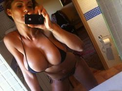Nude selfies from a busty MILF wife
