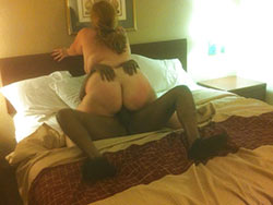 WifeBucket Pics | Fat cuckolding wife rides a BBC