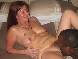 Interracial sex pictures with real amateur MILFs