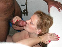 Mature wife gets facial cumshots at the interracial orgy