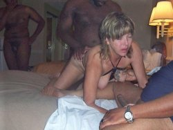 3 black guys fucking a slutty mature wife in a row