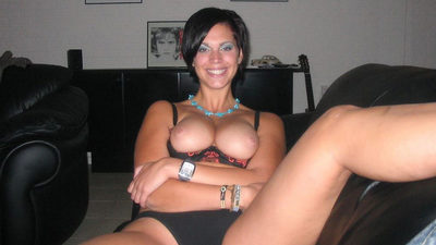 Pretty MILF with big tits having sex at home