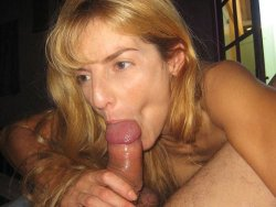 WifeBucket Pics | Older wife gives a blowjob with great suction