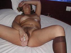 WifeBucket Pics | Mature slut fucking big dildos