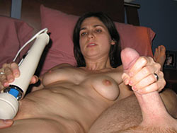 Amateur handjob pics with a hot wife