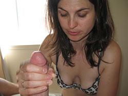 WifeBucket Pics   Great handjob from a hot MILF wife
