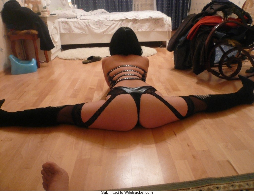 Amateur wife in lingerie