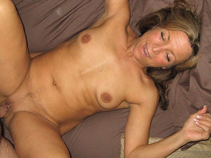 Here's a happy older wife who loves having sex at home and cumming multiple times every day.