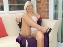 Drunk mature wife wears no panties