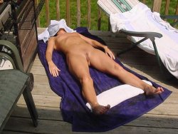 Nude photos of an older amateur swinger who also loves light bondage