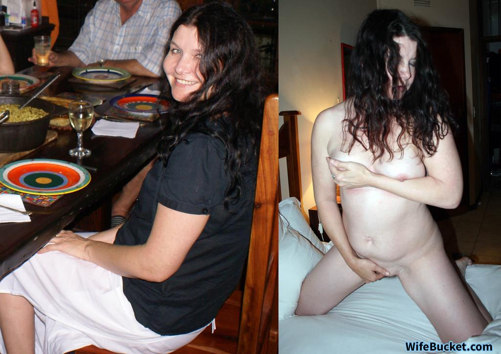Amateur wife before-after nude