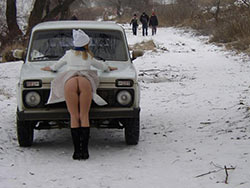 Naked photos of a hot Russian wife