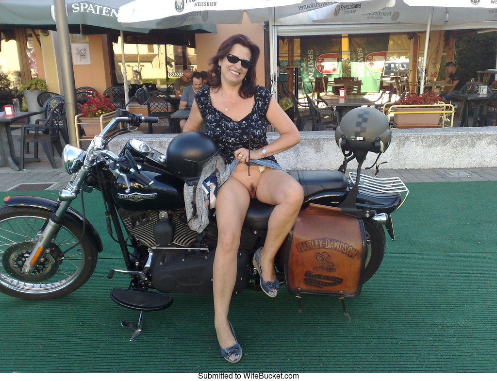 Nude wife motorcycle